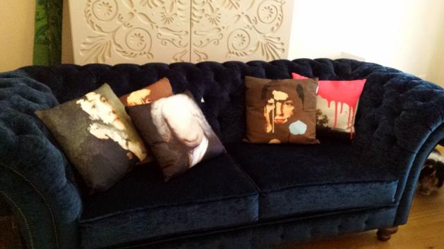 designer cushions,art cushions,designer soft furnishings,designer home accessories,