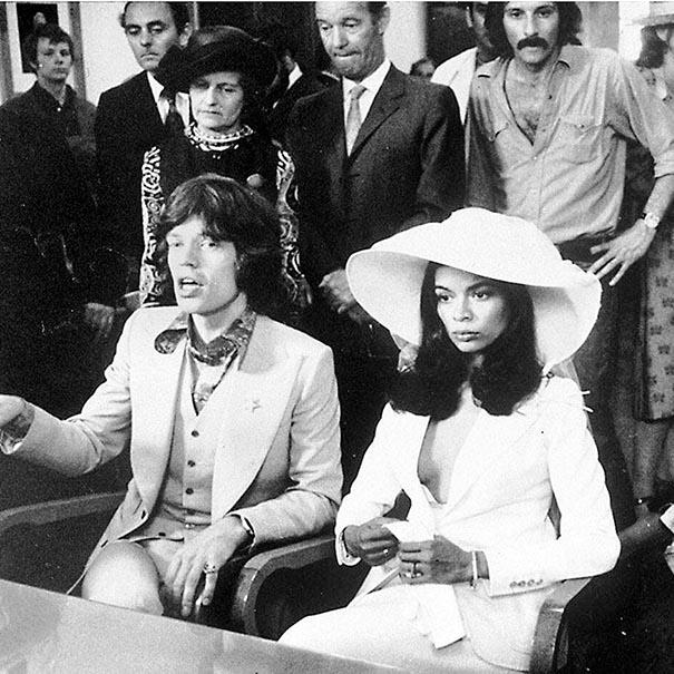 Bianca Jagger wedding suit
