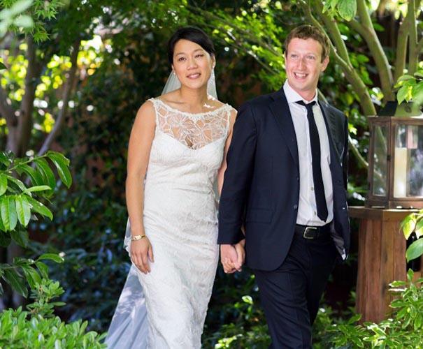 Priscilla Chan wedding dress