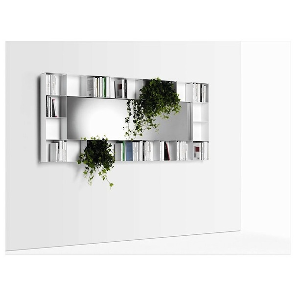 contemporary bookshelf,mirror storage,contemporary storage solutions,