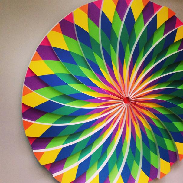 colourful artwork display