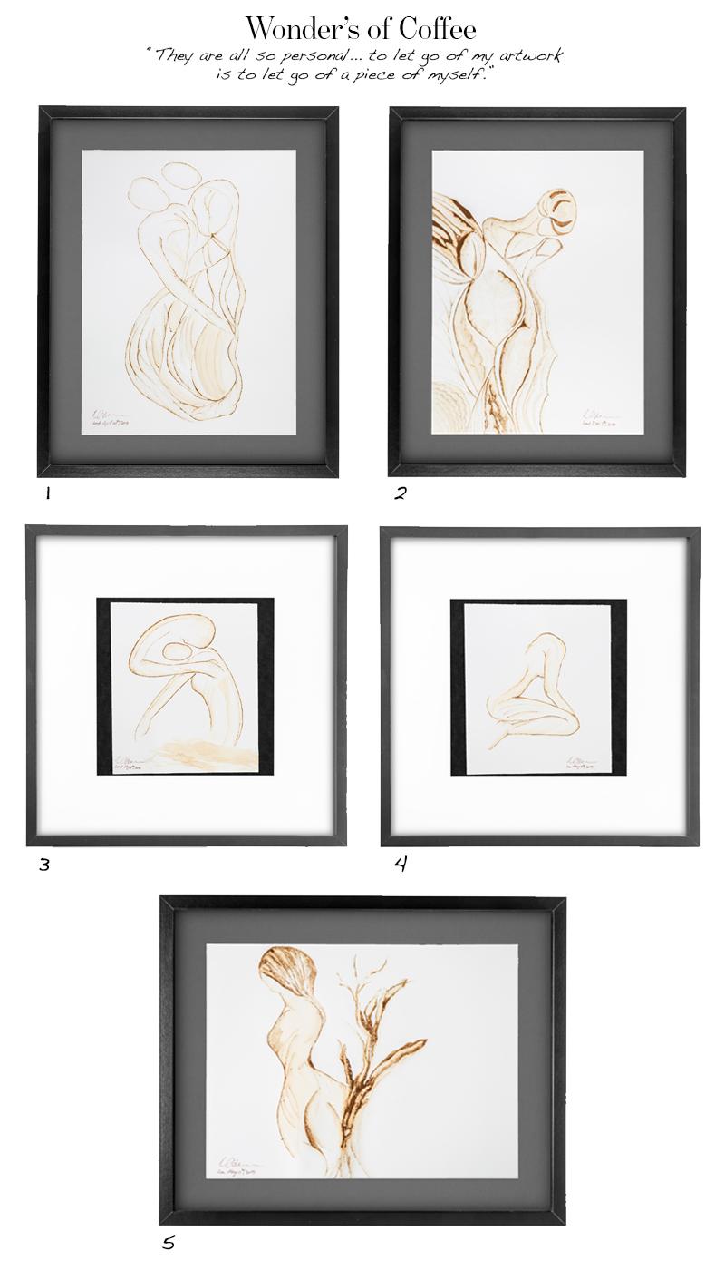Princess Nisreen Coffee Paintings