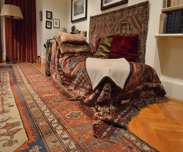 Freud,painted furniture,couch,rug,