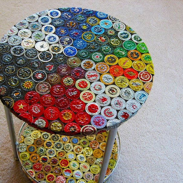 A load of old rubbish for How to make a table out of bottle caps