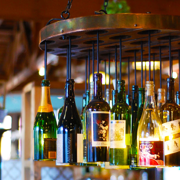 A load of old rubbish for How to make your own wine bottle chandelier
