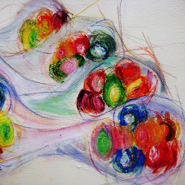 Carolina Gomez-Aubert,colourful artwork,candy-inspired design,