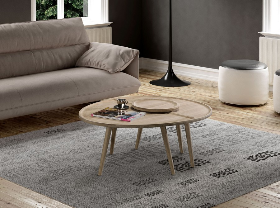 egg-shaped table. modern table